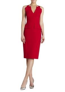 Alena Knee-Length Peplum Dress