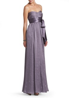 Alicia Pleated Silk Evening Gown