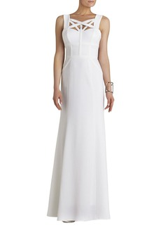 Alisha Crisscross-Detail Gown
