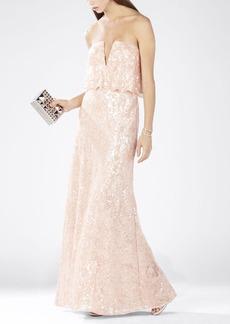 Alyse Strapless Scallop Bodice Dress