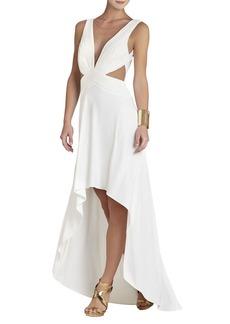 Anastasia Draped Crisscross-Front Dress