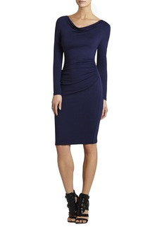 Anyika Cowl-Neck Fitted Dress