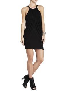 Aurora Sleeveless Draped-Overlay Dress