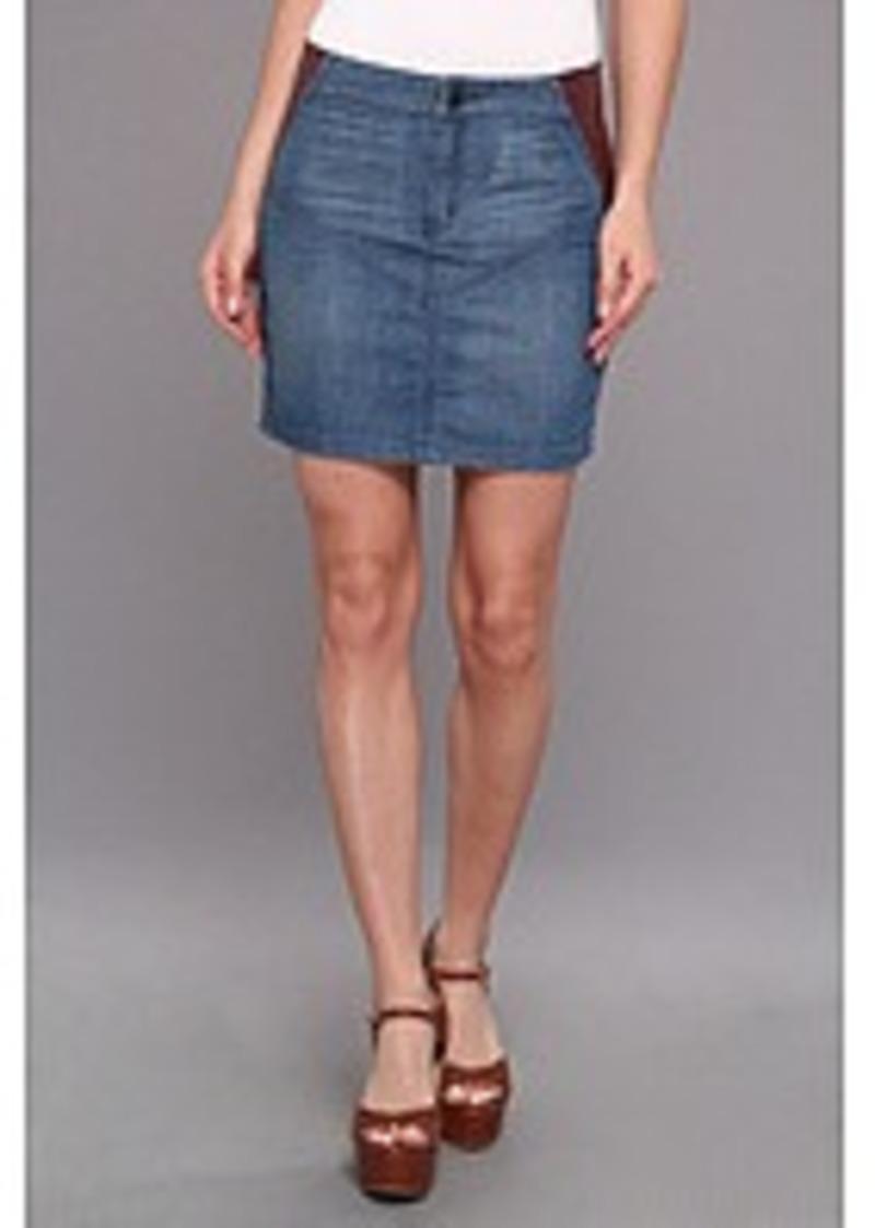 bcbg bcbgeneration denim fx leather skirt skirts shop