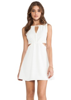 BCBGeneration Double Strap Exposed Flare Dress