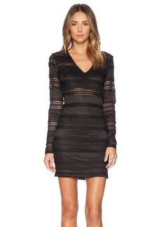 BCBGeneration Lace Ruffle Bodycon Dress