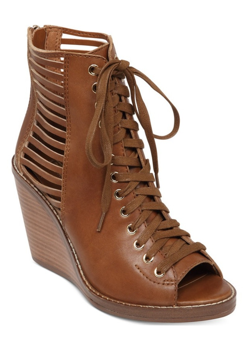 Bcbg bcbgeneration malbon lace up wedge booties shoes shop it to