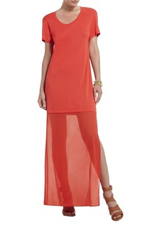 Cassia Short-Sleeve Maxi Dress