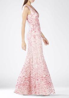 Claudea Deep V-Neck Gown