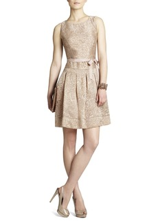 Delphine Pleated Open-Back Dress