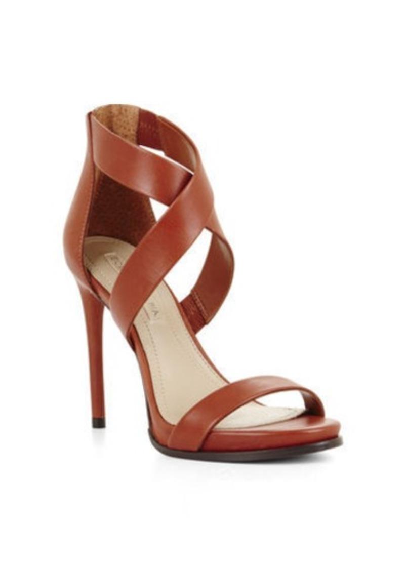 bcbg elyse high heel crisscross ankle day sandal shoes