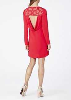 Emilie Lace Yoke Drape Back Dress