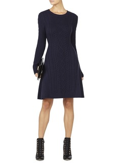 Esmay Cable-Knit A-Line Dress