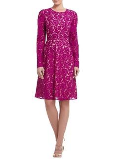 Everley Long-Sleeve Lace Sheath