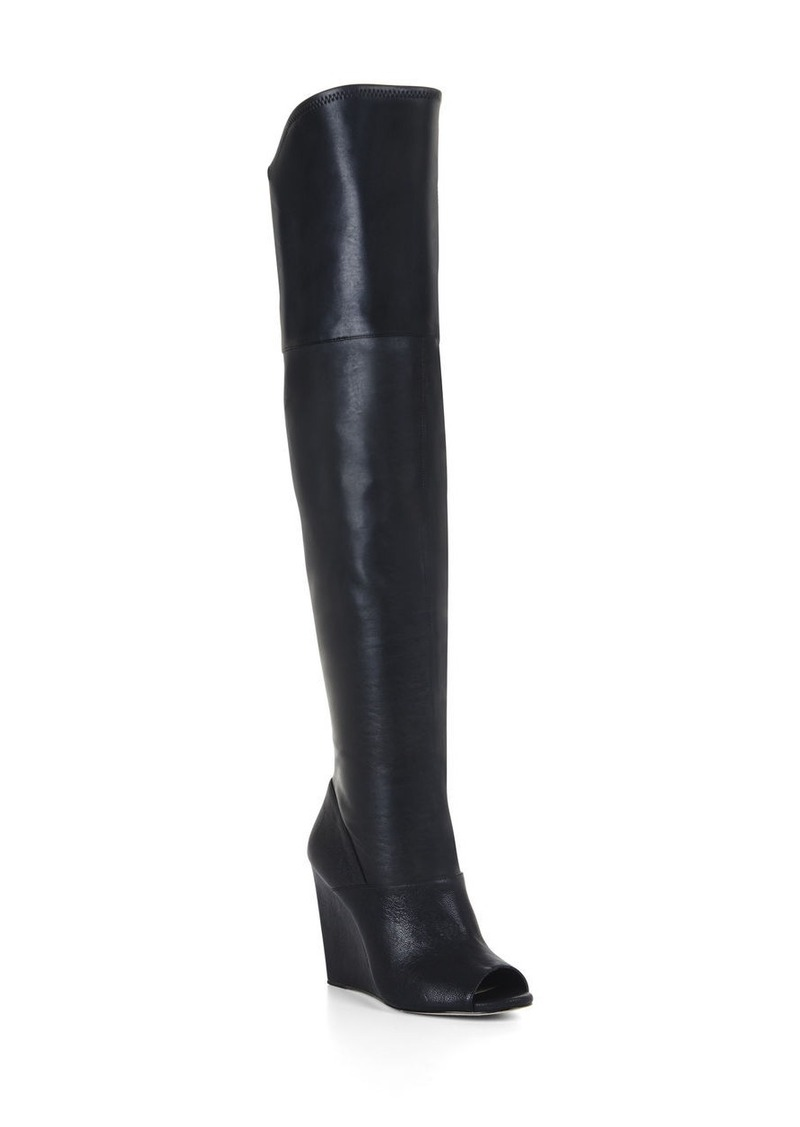 bcbg gian peep toe wedge boot shoes shop it to me