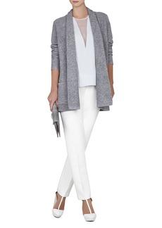 Ginata Shawl-Collar Patch Pocket Cardigan