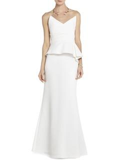 Gracie Strapless Peplum Gown