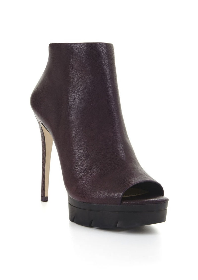 bcbg hasten high heel peep toe bootie shoes