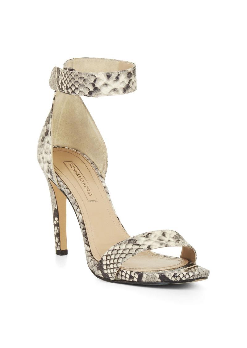 bcbg high heel python sandal shoes shop it to me