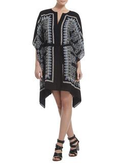 Inessa Printed Ruffled Caftan Dress
