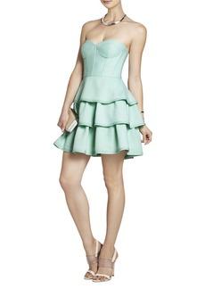 Jacklyn Sleeveless Tiered Ruffle-Skirt Dress