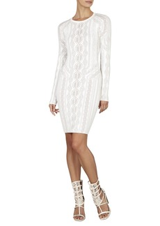 Jaime Cable-Knit Inspired Jacquard Dress