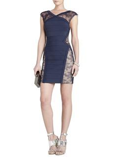 Jess Lace-Yoke Short Dress