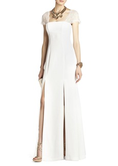 Julia Fitted Lace-Back Gown