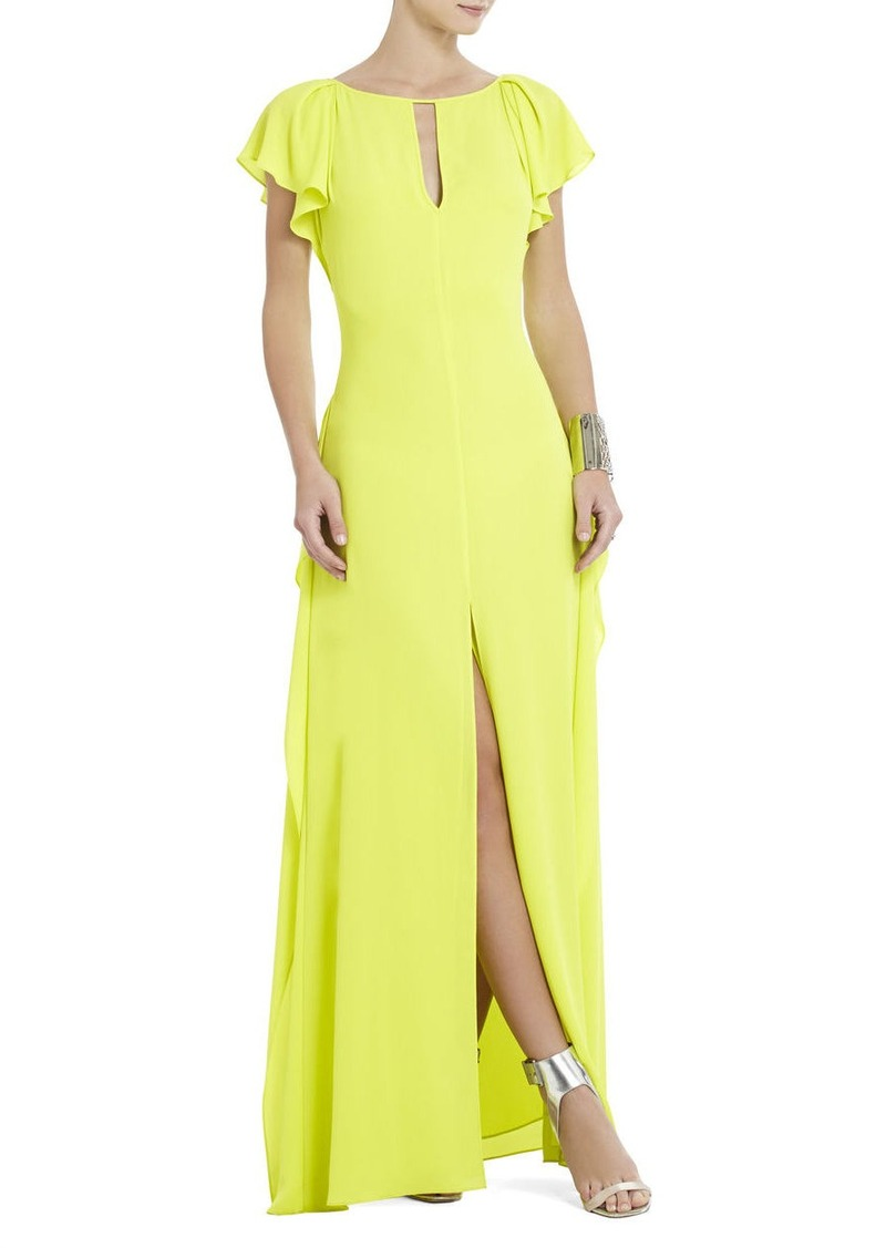 bcbg julianne side draped maxi dress dresses shop it to me