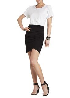 Julie Shirred Tulip-Skirt Dress