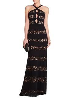 Katrina Halter-Neck Cutout Gown