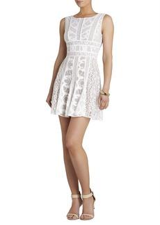 Kelley Sleeveless Lace-Blocked Dress