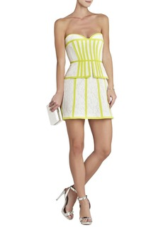 Kellyn Strapping-Detailed Strapless Dress