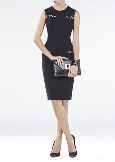 Kelsie Contrast Folded Peplum Dress