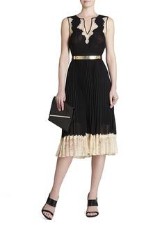 Khloe Sleeveless Pleated Dress