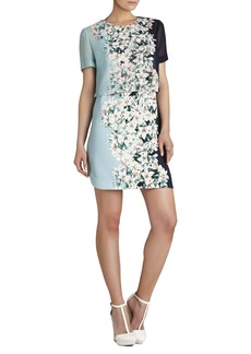 Kristy Layered Short-Sleeve Dress