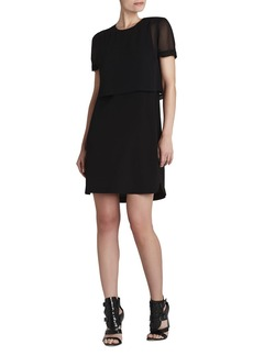 Kristy Short-Sleeve Layered Dress