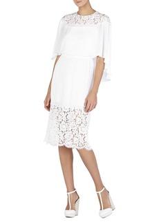 Lacie Lace-Blocked Cape Dress
