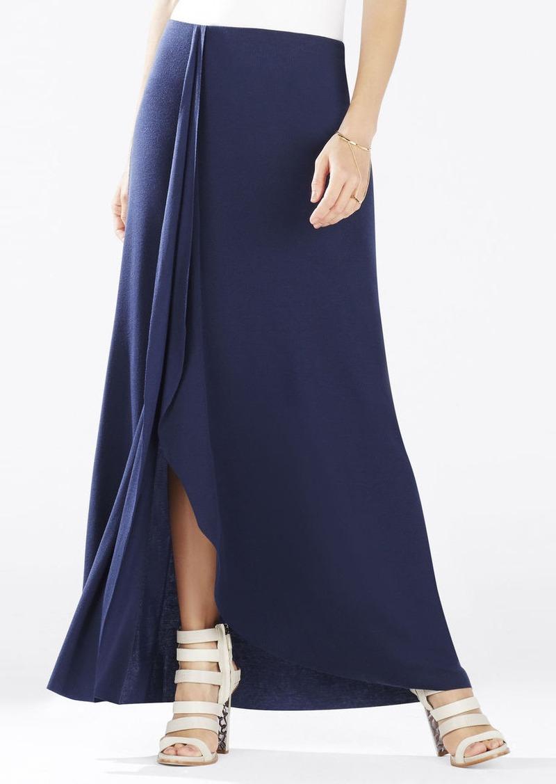 bcbg logan ruffle maxi skirt skirts shop it to me