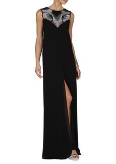 Luciele Embellished Neck Gown