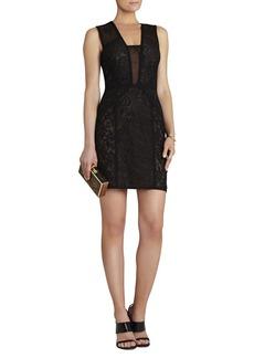 Lyla Contrast-Lace Panel Dress