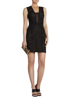 Lyla Contrast-Lace Panel Dress