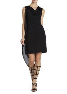 Mallory Sleeveless Cascade-Side Dress
