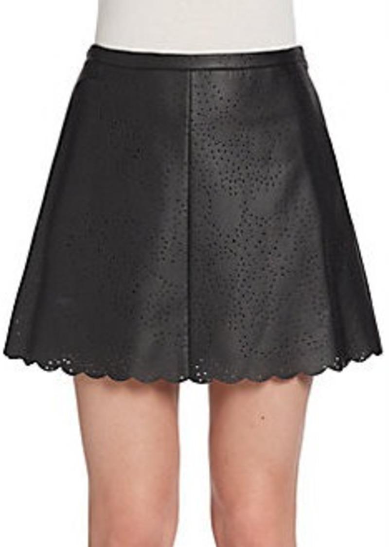 bcbg max azria bcbgmaxazria perforated faux leather skirt