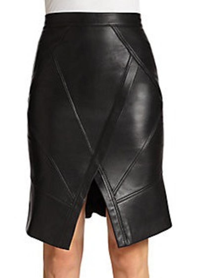 bcbg max azria bcbgmaxazria taylon seamed leather skirt