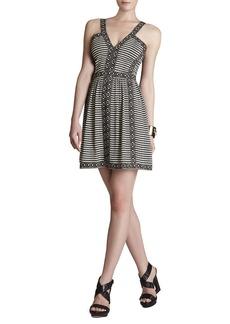 Melanie Printed Sleeveless V-Neck Dress
