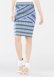 Pavel Ikat Ombre Jacquard Skirt