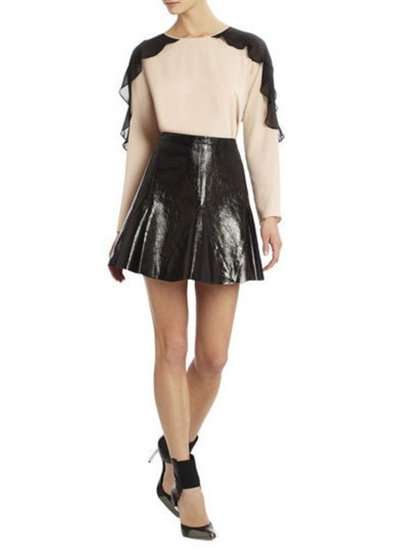 bcbg runway alex leather skirt skirts shop it to me
