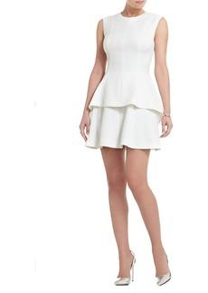 Shirlee Draped-Side Peplum Dress