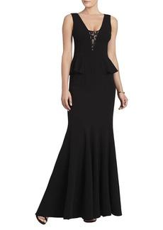 Silvia Sleeveless Peplum Long Dress